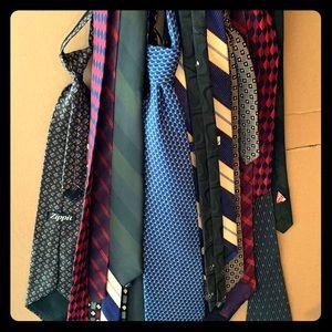 Silk ties variety